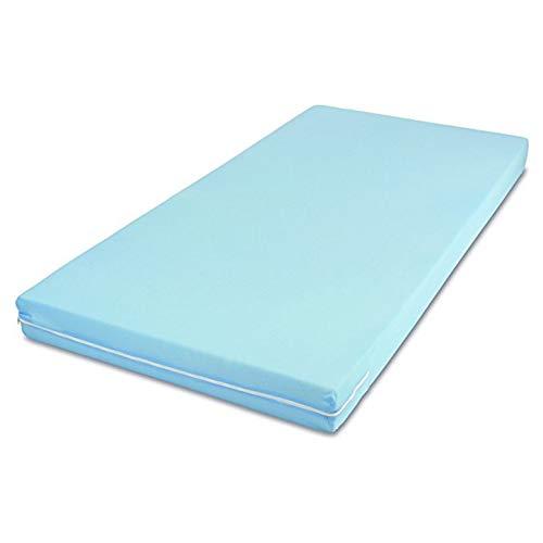 MSS Roll-Matratze, Easy Active, 100 x 190 x 11 cm ,H3, Bezug Blau, Schaumstoff