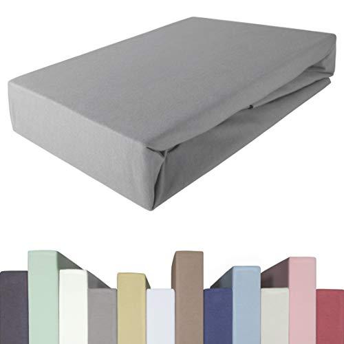 Edda Lux Spannbettlaken für BOXSPRINGBETT & bis zu 40 cm hohe Matratzen | Premium-Qualität | Baumwolle m. 5% Elasthan | schwere 190 g/m² | 180 x 200 | 200 x 200 | 200 x 220 cm | Jersey-Spannbetttuch