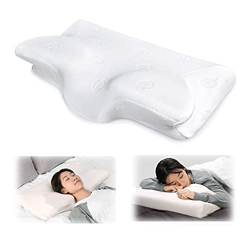 MARNUR Kissen Nackenstützkissen Kopfkissen Memory-Schaum Kissen(Memory Foam) für Seitenschläfer Rückenschläfer und Bauchschläfer +waschbare Kisseneinzug