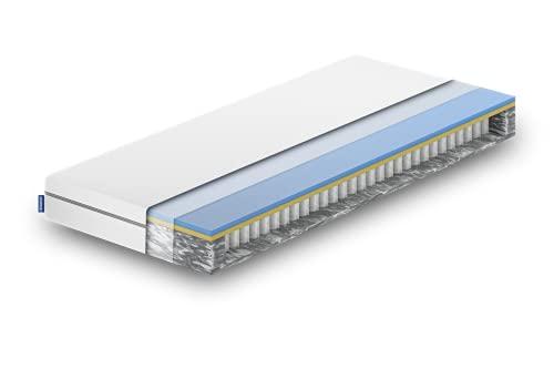 EMMA Dynamic Federkernmatratze I 90x200 cm I Öko-Tex Zertifiziert I atmungsaktiv I 100 Nächte Probeschlafen I Tonnentaschenfederkernmatratze entwickelt in Deutschland