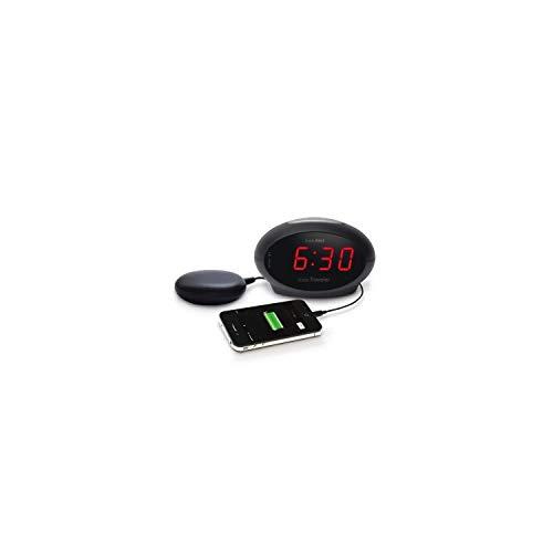 Geemarc SBT600 Vibrationswecker mit extra lautem Alarm 75 dB + Vibration (deutsche Version). USB Anschluss für die Aufladung Ihrer Smartphone oder andere elektrische Kleingeräte