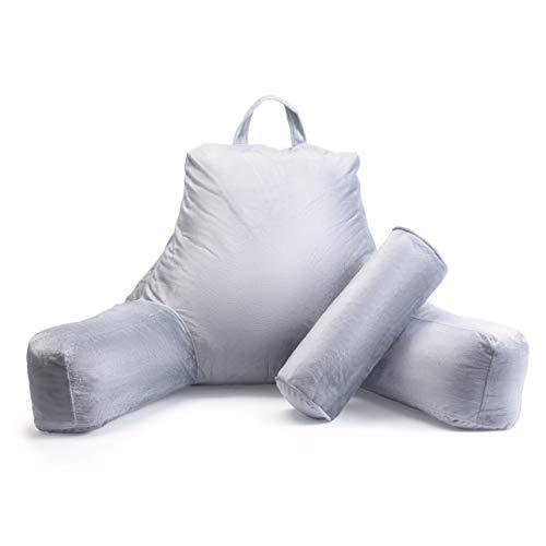 Milliard Lesekissen/Stützkissen mit Füllung aus Geschreddertem Memory-Schaumstoff - Abnehmbare Nackenrolle, Waschbarer Bezug (61 x 41 cm Sitzkissen)