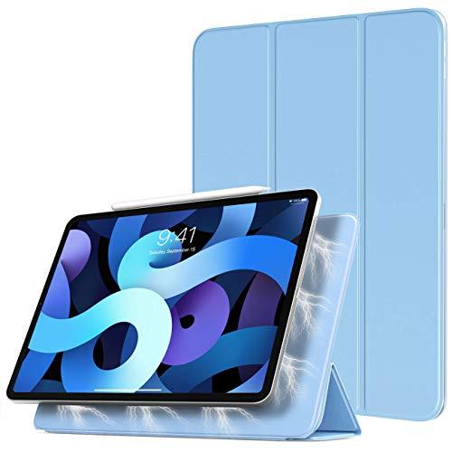 TiMOVO Hülle Kompatibel mit iPad Air 4. Generation 10.9 Zoll 2020 Tablet, Schutzhülle mit Auto Schlaf/Aufwach Funktion, Magnetisch Befestigung und Ladung für iPencil - Hellblau