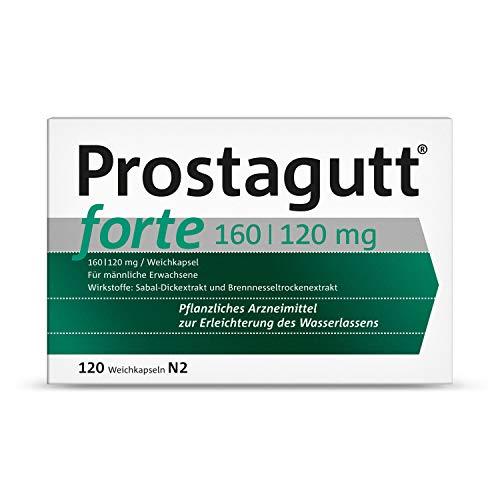 Prostagutt forte 160/120 mg Weichkapseln – Pflanzliches Arzneimittel zur Reduktion des Harndrangs bei gutartiger Prostatavergrößerung – 2 x 100 Filmtabletten