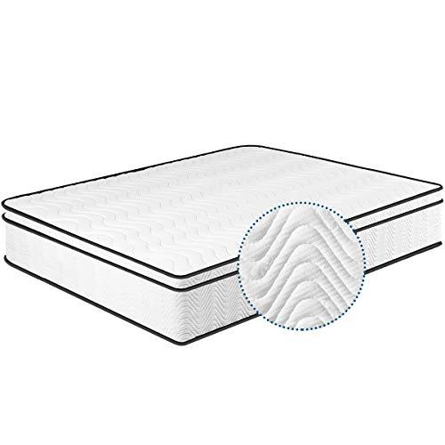 Matratze 140x200, 7-Zonen Federkernmatratze Memory Foam & Soft Gestrick H4, Optimale Unterstützung von Lenden- und Beckenbereich Classic Spring 10 Jahre Garantie (140 * 200 * 24cm)