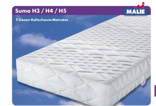 Matratze Malie Sumo Kaltschaum für Gewichtige XXL 100x220 cm H5 MG