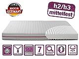 BMM Matratze Klassik 19 - orthopädische 7-Zonen Kaltschaummatratze 120x200 cm, H2 / H3 mittel-fest, Bezug V2 Premium Doppeltuch, Höhe 19cm