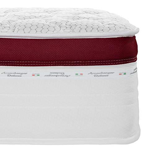 Arensberger ® Deluxx 9 Zonen Taschen-Federkern Matratze mit 3D-Memory Foam, Höhe 30 cm, 160 x 200 cm, Visco & Kaltschaum