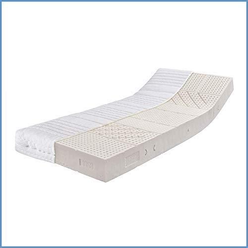 Ravensberger Matratzen® Natur Latexmatratze LATEXCO | 7-Zonen Komfort Matratze aus Latex H2 RG 60 (45-80 kg) Made IN Europe - 10 Jahre Garantie Bezug MEDICORE silverline® 100 x 190 cm