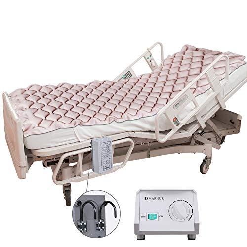 MARNUR Anti-Dekubitus Aufblasbare Matratze Pad, Wechselluftdruckmatratze Mit Pumpe, Für Dekubitus Und Bett Wund Relief