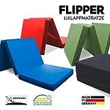 myBubo Klappmatratze Faltmatratze Klappbett Flipper Schwarz - Made IN Germany - als Matratze/Gästebett/Gästematratze einsetzbar