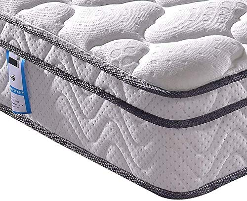 Vesgantti Matratze 120x200 7-Zonen Federkernmatratze Taschenfederkernmatratze Mittelfeste Orthopädischem Tonnentaschenfederkernmatratze (H3, Box-top 26cm)