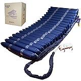 Mobiclinic, Mobi 4, Wechseldruckmatratze, Anti-Dekubitus Matratze, Luftmatrazte, Dekubitus Grad 1, 2, 3, 4, 20 wechselnden Druckluftzellen, Blau