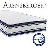 Arensberger  Relaxx 9 Zonen Wellness Matratze mit 3D-Memory Foam, 180cm x 200cm, Höhe 25cm, Raumgewicht 50 kg/m³, DREI Schichten: Kaltschaum + Visco Smart Schaum + Gel Schaum