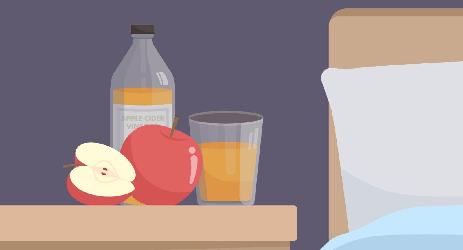 Apfelessig vor dem Schlafen: Es soll unter anderem die Verdauung anregen und das Immunsystem stärken.