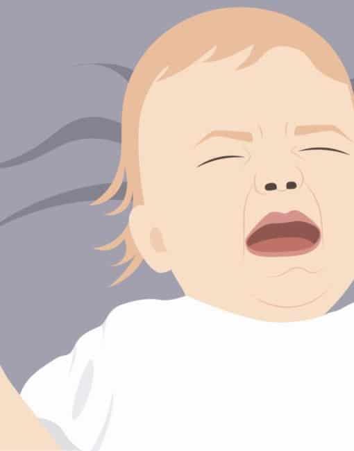 Baby weint im Schlaf: In den allermeisten Fällen besteht kein Grund zur Sorge.