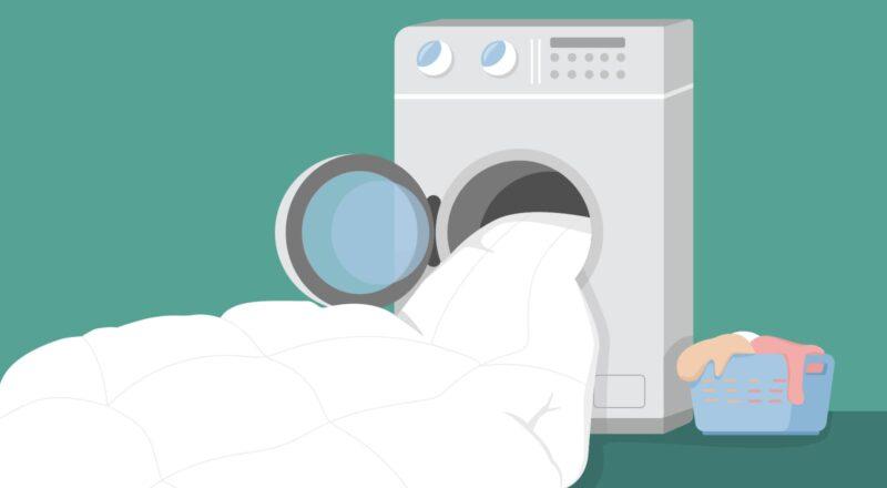 Bettdecke waschen: Der Großteil aller Bettdecken kann in einer 7 kg-Waschmaschine gewaschen werden.