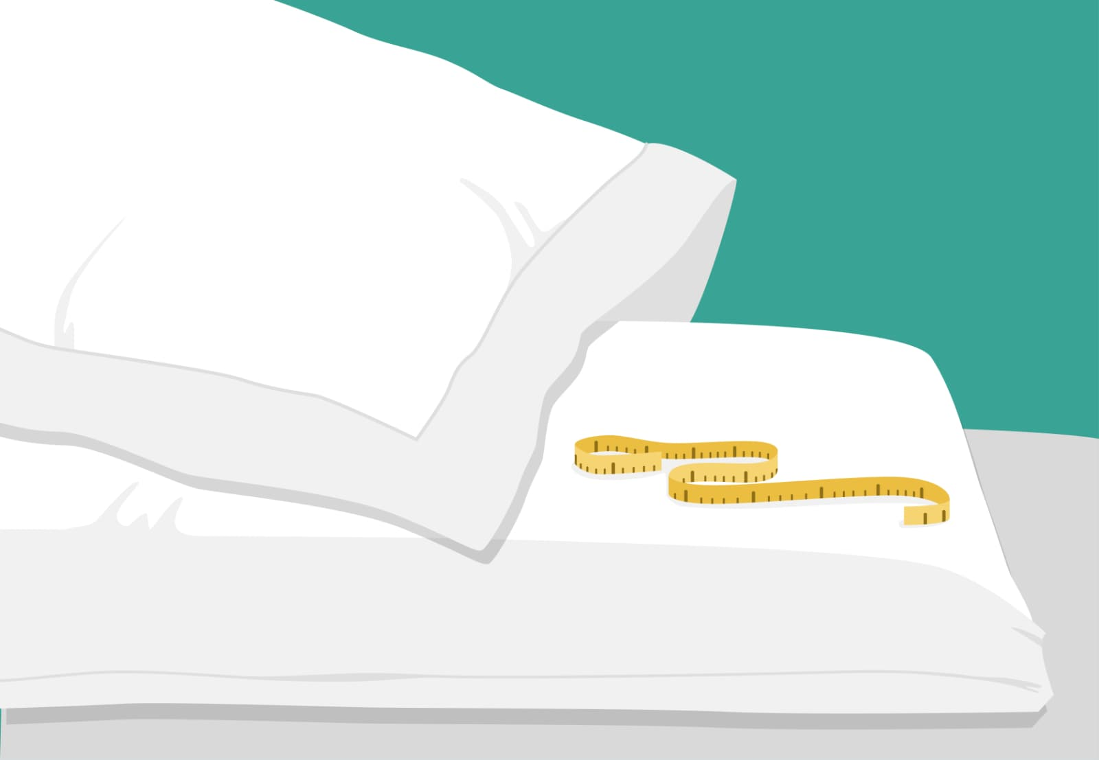 Bettwäschen-Maße: Entscheidend ist dabei die Körpergröße und das Körpergewicht.