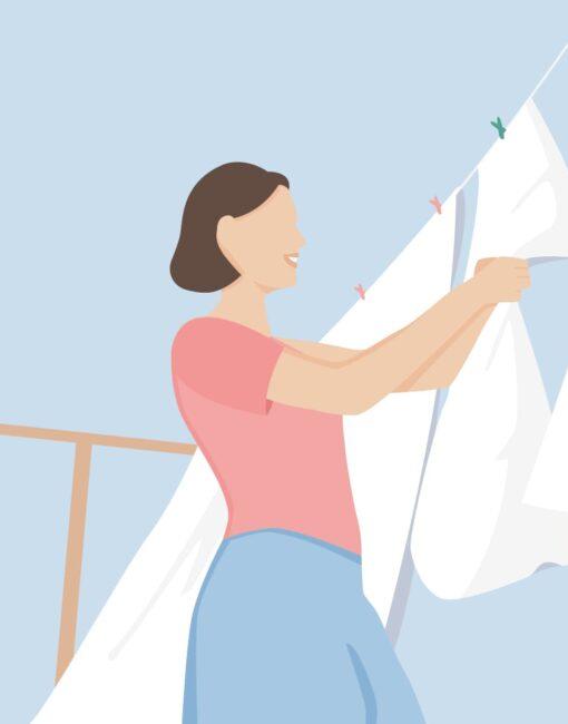 Bettwäsche waschen: Prinzipiell ist es ausreichend, die Bettwäsche alle 14 Tage zu wechseln und zu waschen.