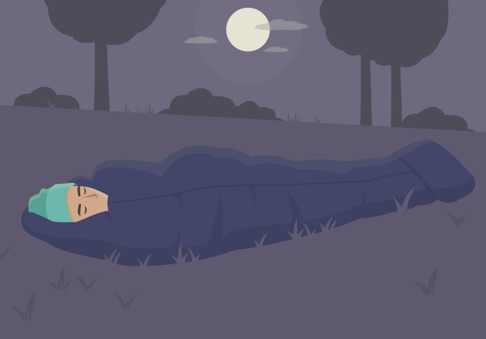 Draußen schlafen: Es ist prinzipiell nicht verboten.