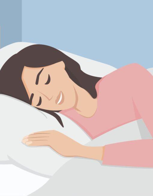 Im Schlaf lachen: Das ist etwa mit dem Sprechen im Schlaf vergleichbar.
