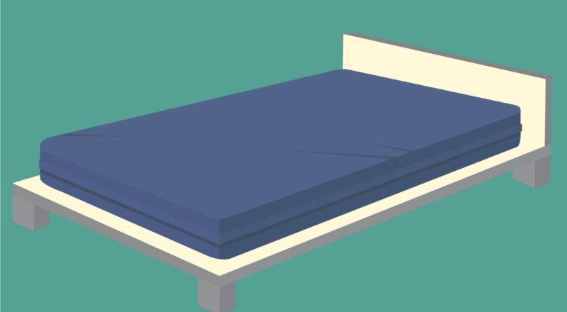Inkontinenz Matratze in einem Bett