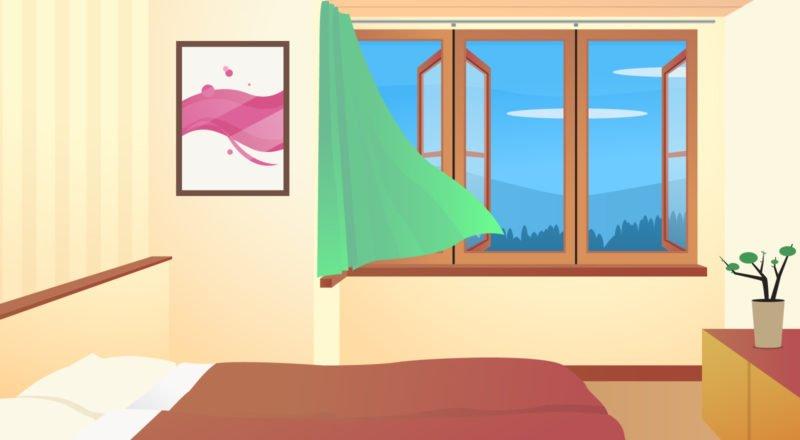 Die Luftfeuchtigkeit sollte im Schlafzimmer zwischen 40 und 60 Prozent betragen