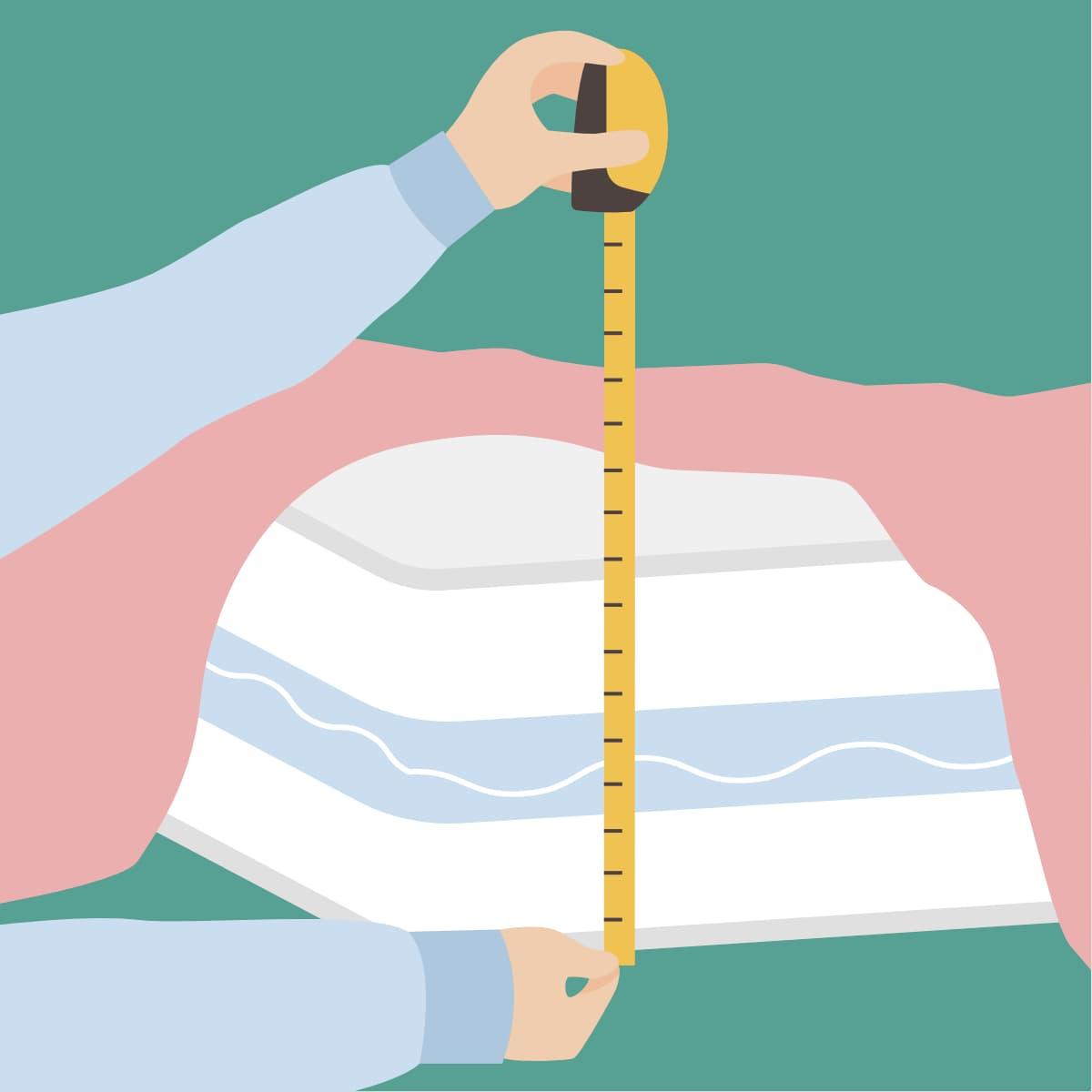 Matratze ausmessen