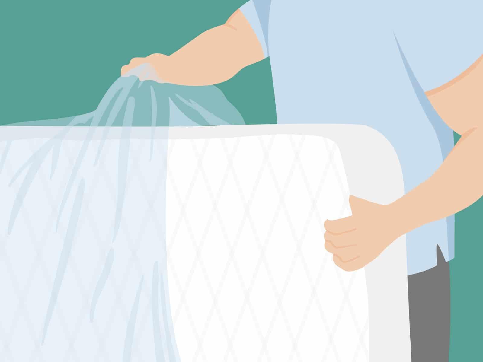 Matratze vakuumieren: Durch das Vakuumieren wird die Matratze vor Schmutz und Feuchtigkeit geschützt.