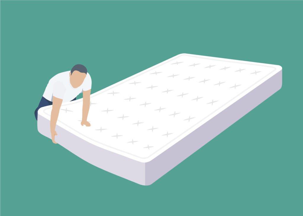 Wenden einer Matratze