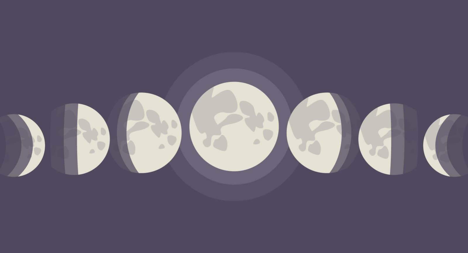 Mondphasen: Das sind die verschiedenen Erscheinungsbilder des Mondes.