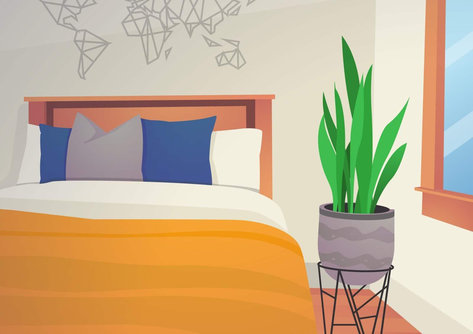 Pflanzen im Schlafzimmer: Fördernd oder schädlich?