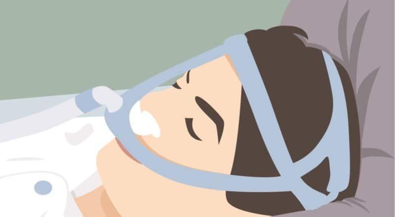 Schlafapnoe: Ein Krankheitsbild, bei dem es immer wieder zu nächtlichen Atemaussetzern kommt.