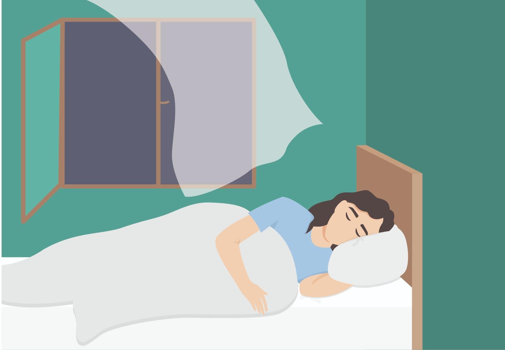 Schlafen bei Hitze: Bei heißen Temperaturen schlafen viele Menschen kürzer.