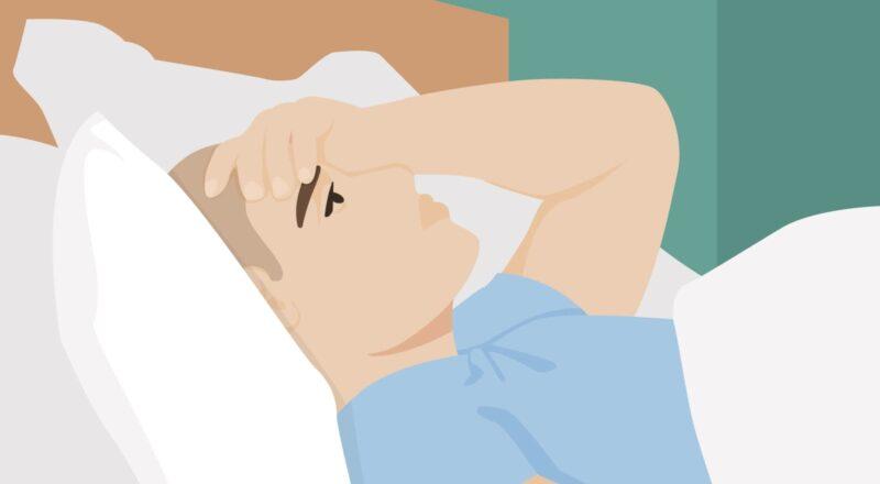 Schlecht schlafen Corona: Stress im Zusammenhang mit der Corona-Pandemie kann bei manchen Menschen Schlafprobleme auslösen.