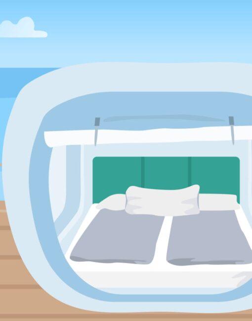 An ungewöhnlichen Orten schlafen: Es ist ein echter Trend und an den verschiedensten Plätzen weltweit möglich.