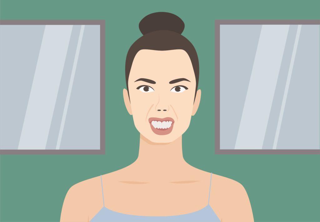Zähneknirschen - es kommt oft unbewusst während des Schlafens vor.